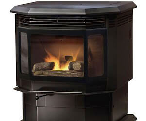 Freestanding pellet stoves acme stove fireplace va - Pellet stoves for small spaces set ...
