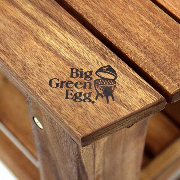 Big Green Egg Acacia Table Logo
