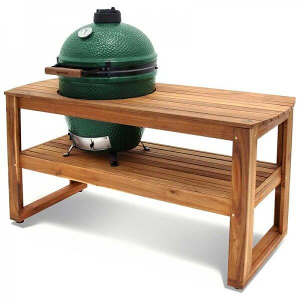 Big Green Egg Acacia Table Side